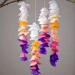 Tissue Paper Crafts Ideas Diy Tissue Wisteria Mobile tissue paper crafts ideas getfuncraft.com