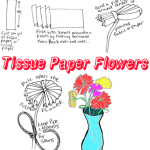 Tissue Paper Crafts Ideas Tissue Paper Flowers