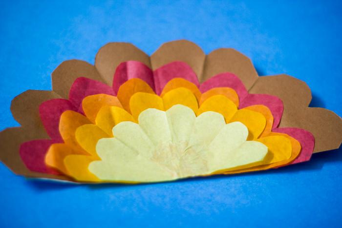 Tissue Paper Turkey Craft