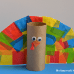 Tissue Paper Turkey Craft Toilet Paper Roll Turkey Craft
