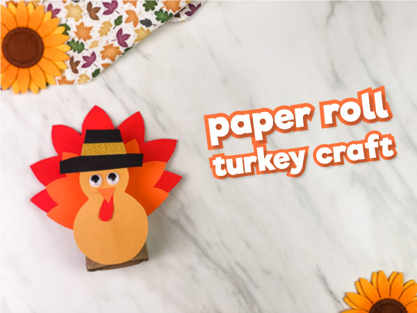 Tissue Paper Turkey Craft Toilet Roll Turkey Craft Feature Image tissue paper turkey craft |getfuncraft.com