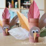 Tissue Paper Turkey Craft Turkey Toilet Paper Roll Craft tissue paper turkey craft |getfuncraft.com
