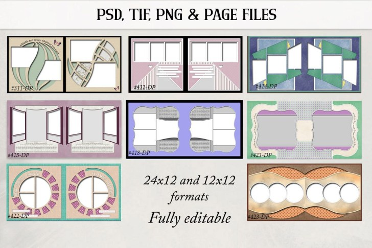 Two Important Things to Consider When You Decide the Double Page Scrapbook Layouts