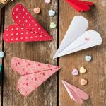 Valentine Paper Crafts Kids Free Printable Heart Paper Airplanes Extralarge800 Id 1964842