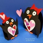 Valentine Paper Crafts Kids Penguin Hearts 600x590 valentine paper crafts kids|getfuncraft.com