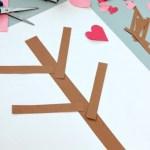 Valentine Paper Crafts Kids Valentines Day Tree Paper Craft 1 valentine paper crafts kids|getfuncraft.com