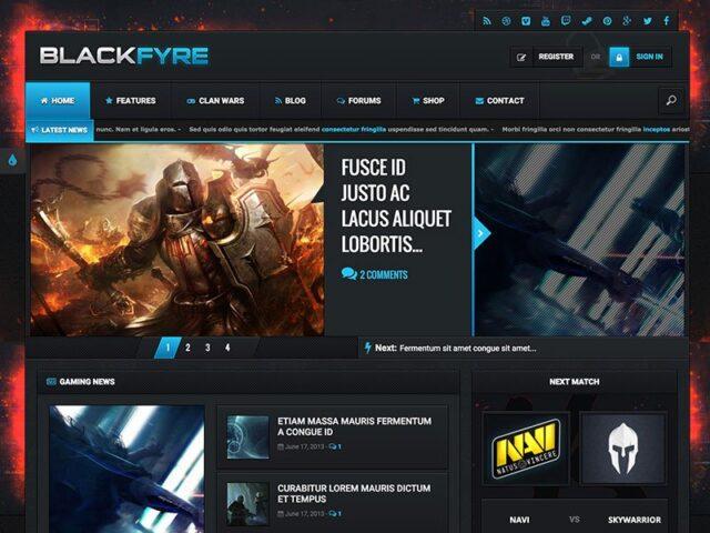 blackfyre gaming community theme