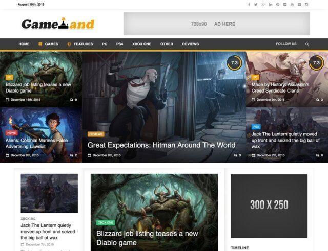 newsgamer wordpress theme