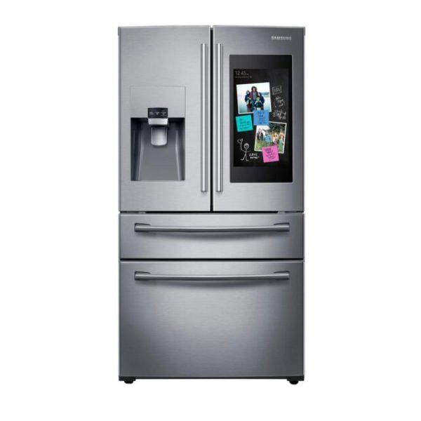 Samsung 27.7 cu. ft. Family Hub 4-Door French Door Smart Refrigerator in Stainless Steel