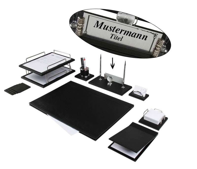 bello luxuri ses leder b ro organizer schreibtisch set mit. Black Bedroom Furniture Sets. Home Design Ideas