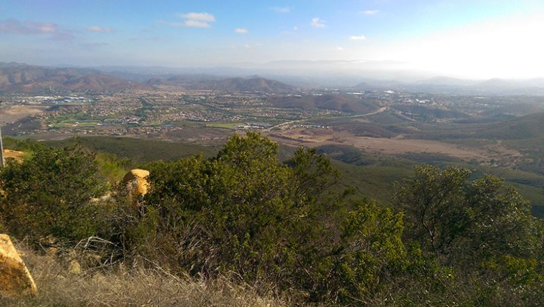 San Diego Hiking: Looking North fom Black Mountain Summit