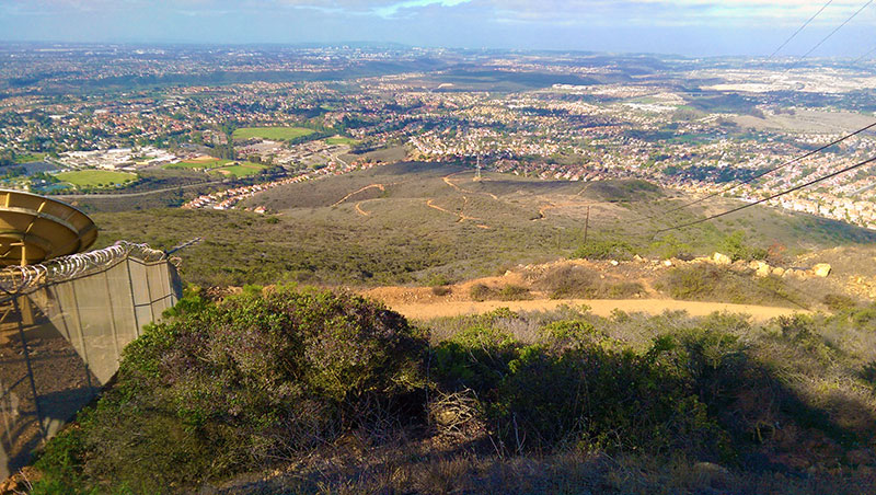 San Diego Hiking: Hilltop Community Park from Black Mountain Peak