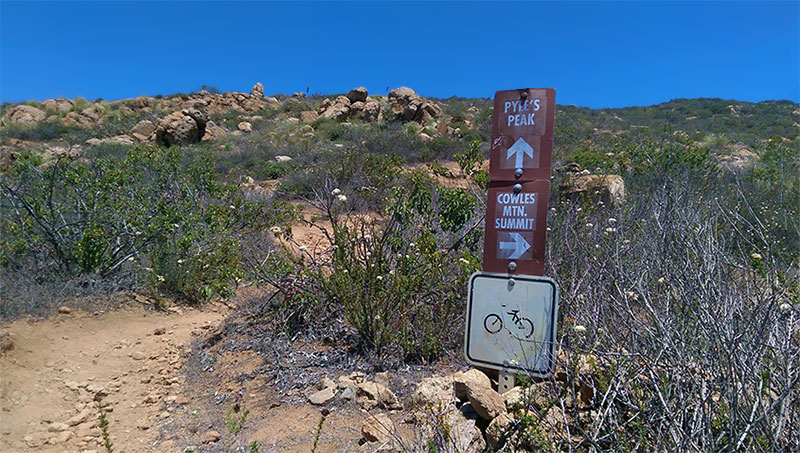 Pyles Peak Summit Marker