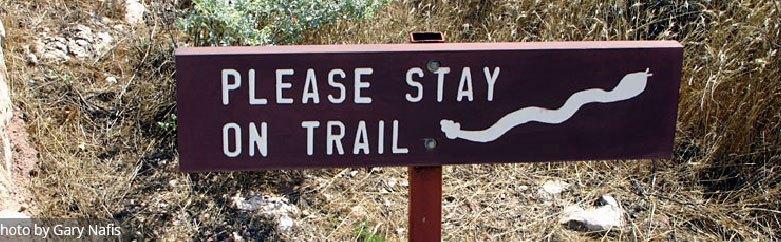 Preventing Snakebites - Stay on Trail