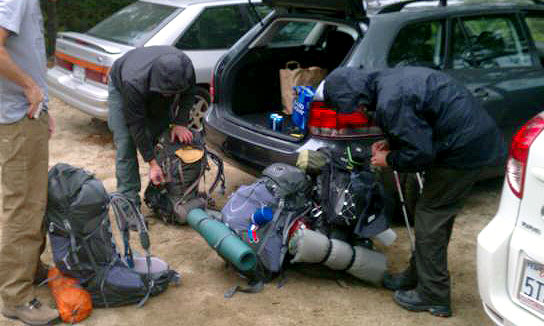 Last minute gear check before my first overnighter
