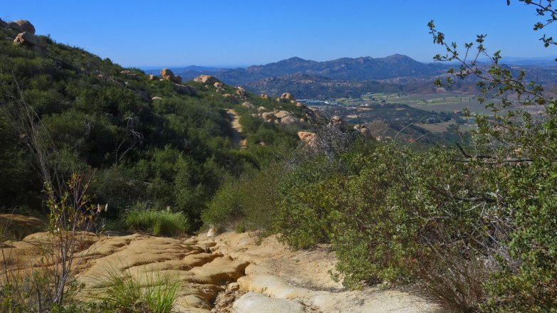 Looking down on Barona Casino from El Cajon Mountain Trail