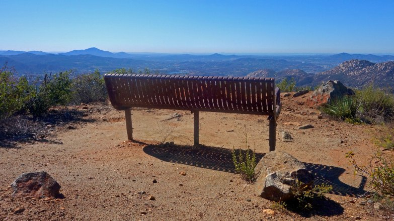 Take a Seat on El Cajon Mountain Trail