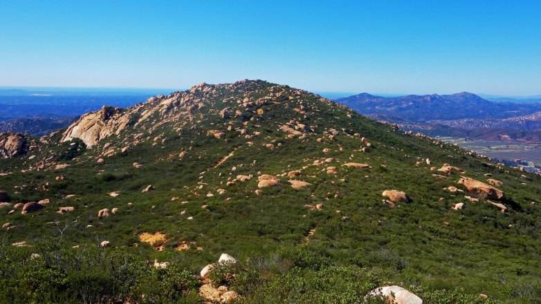 Looking Back to the Summit Trail from El Cajon Mountain Summit
