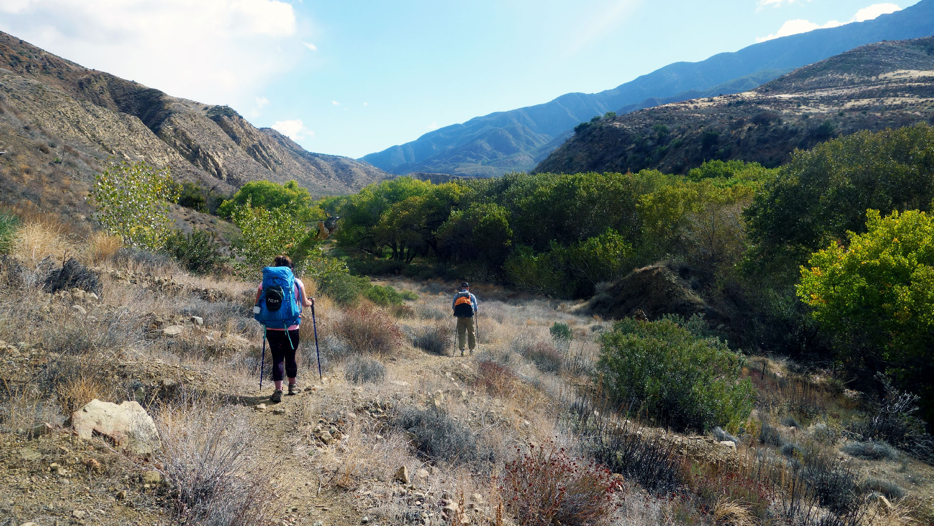 Crossing Sespe Creek - Hiking and Camping in Los Padres National Forest