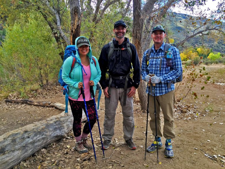 Doris, me and Don Hiking in Sespe National Forest