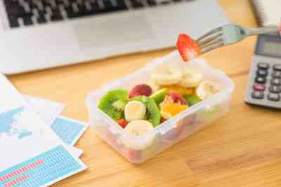 Nodding off after lunch? Here's how to beat the afternoon slump for good (including eating a healthy snack!).