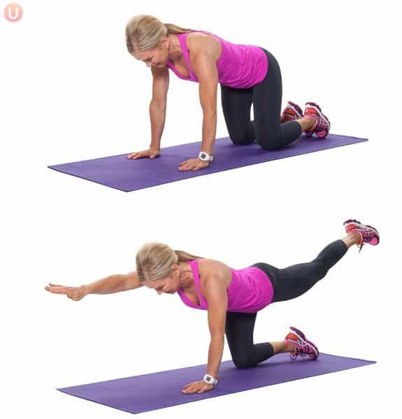 Learn how bird dog pose can help strengthen your pelvic floor.