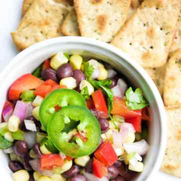 Check out this healthy homemade salsa! We think every adult should know how to make their own salsa! It's cheaper AND healthier to make it yourself!