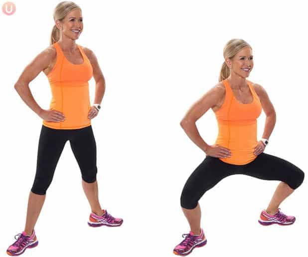 This squat variation tones the thighs.