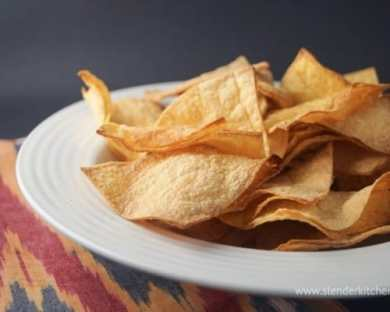 Check out these delicious homemade tortilla chips! Every adult should know how to make these delicious chips. They're healthier than your standard store-bought brand, and we think you'll never turn back after you give these a try!
