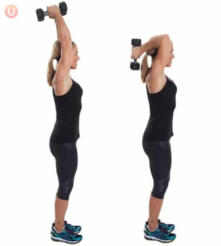 Tricep overhead extensions are great for when you want to lose weight.