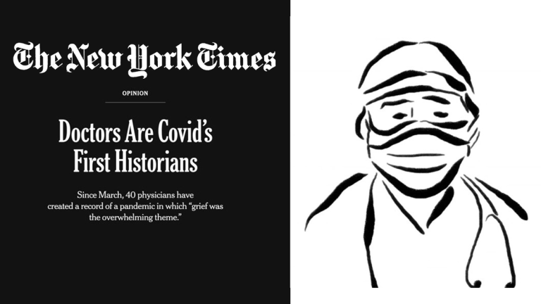 new york times feature with doctor sketch
