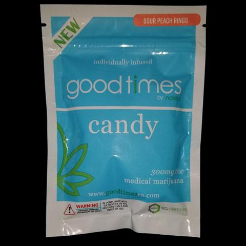 Gummy - Sour Peach Rings 300mg Good Times