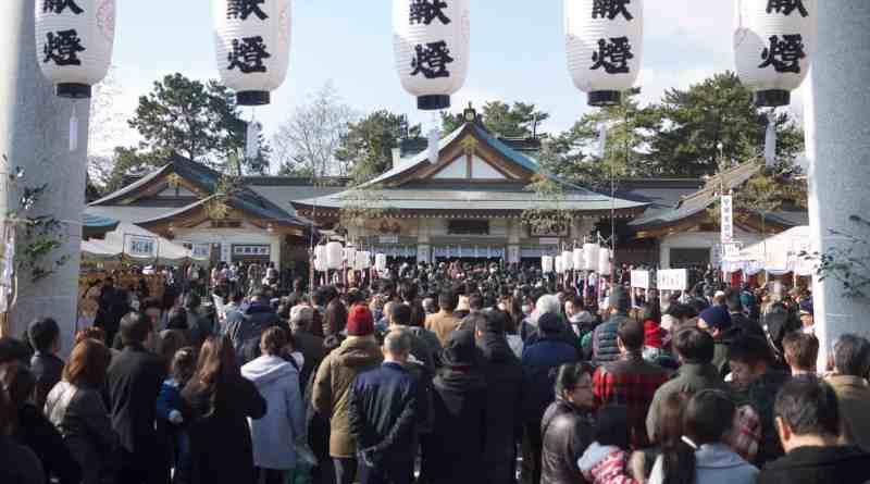 Gokoku-jinja Shrine in Hiroshima at New Year