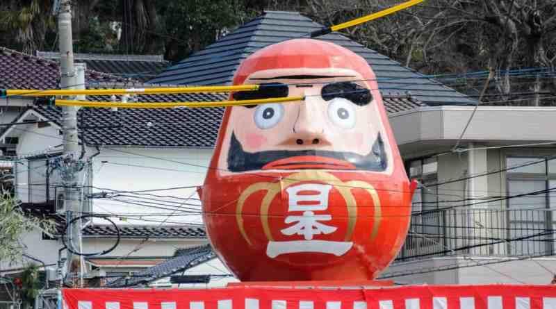 mihara daruma festivaln in japan