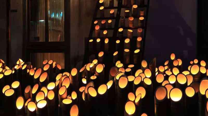 takehara shoukei no michi candle festival