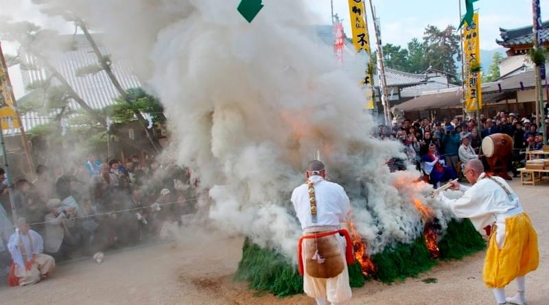 Daigan-ji Temple firewaalking ritual Miayjima Hiroshima