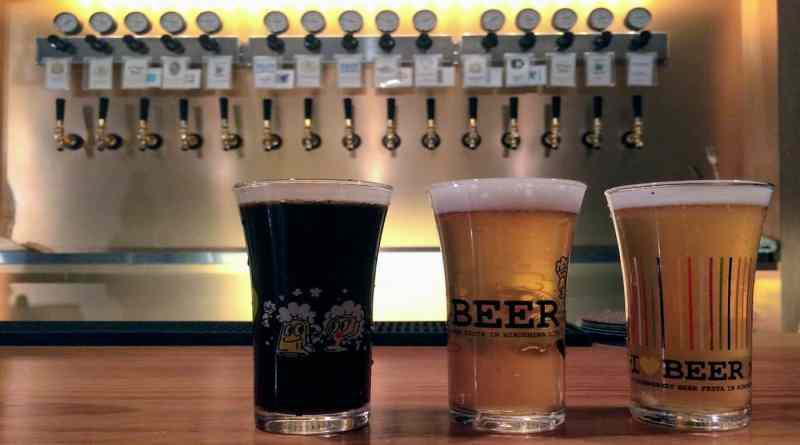 raku beer japanese craft beer bar in hiroshima japan