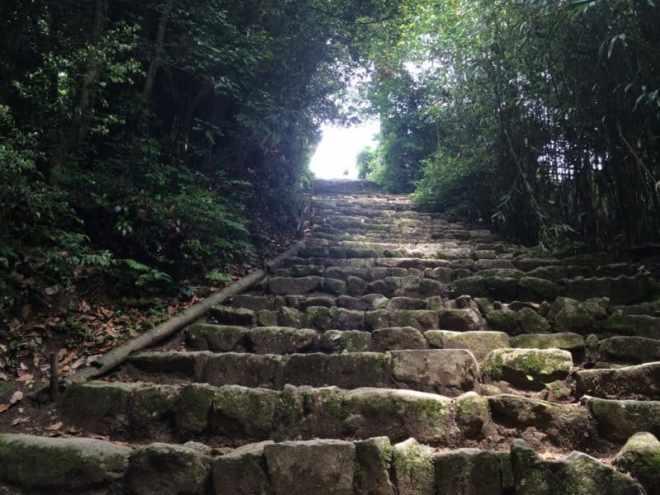 (25) Steps up to Gokurak-ji Temple