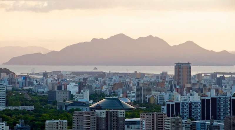 View over Hiroshima city from Mitate-yama