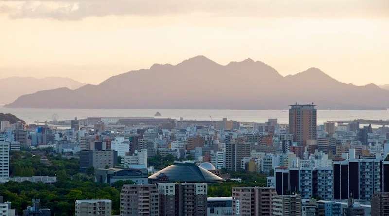 View over Hiroshima city from Mitate-yama