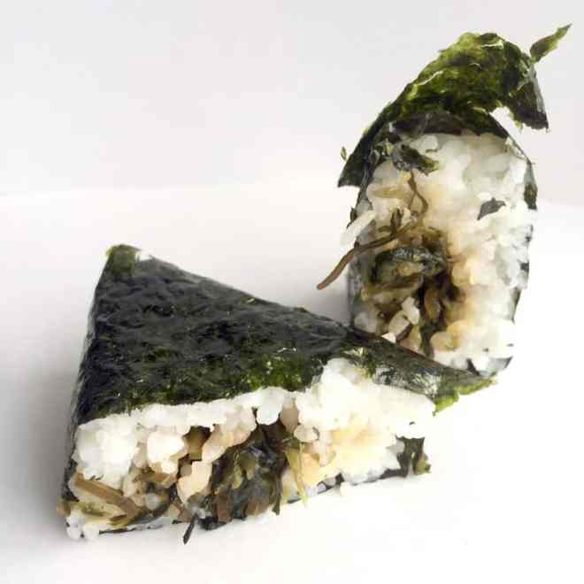 hiroshima-na onigiri filling