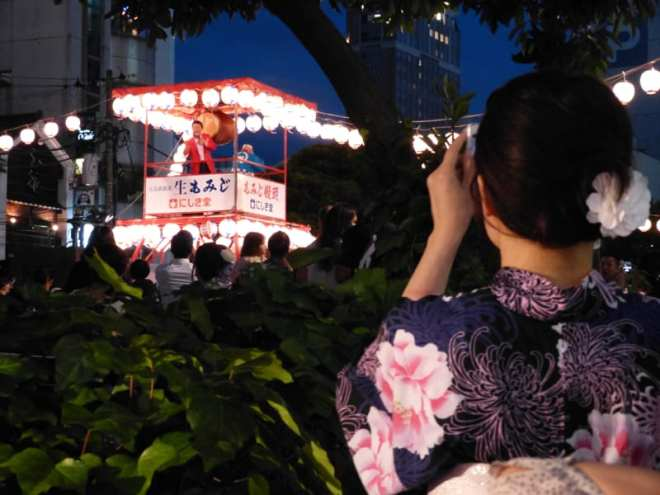 Minami Issei at Yukata de bon dance in shintenchi at tokasan