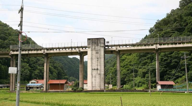 Uzui Station on the Sanko Line in Shimane Prefecture