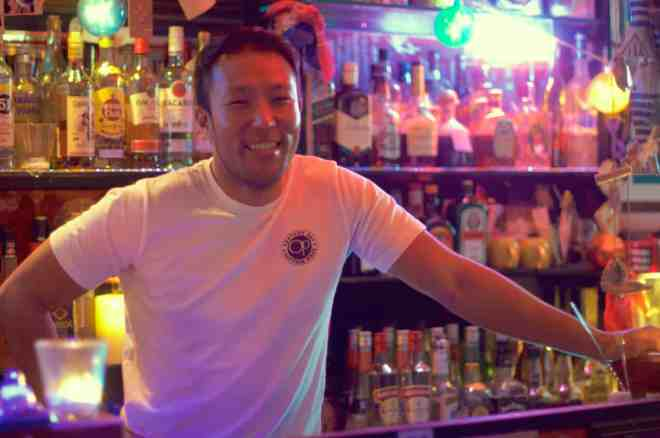 Owner Ken Ken at Bar Ken's & Tres Marias in Hiroshima, Japan