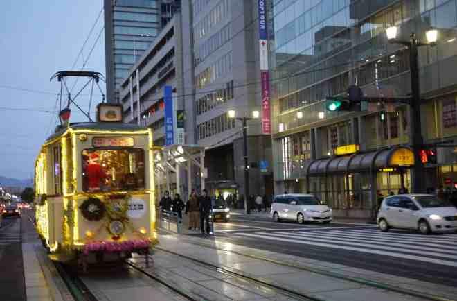 Hiroden Christmas Tram in Hiroshima