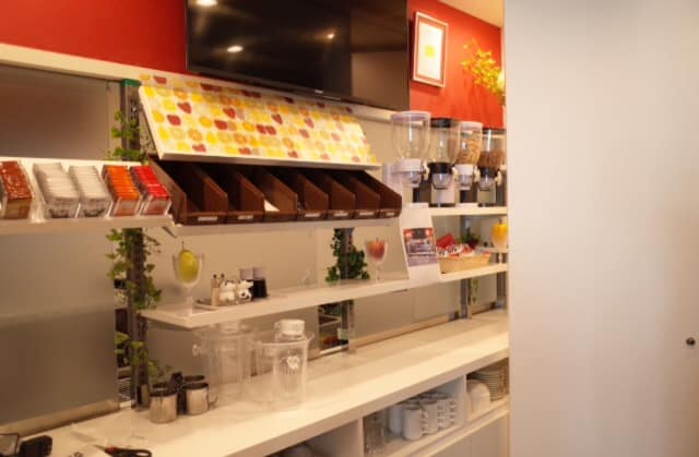 Breakfast bar at sejour fujita capsule accommodation