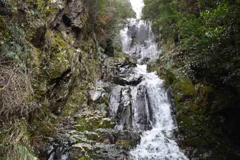 Josei-daki falls in Sakugi in Miyoshi, Hiroshima, Japan