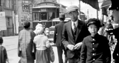 1935 Hiroshima city center film footage video