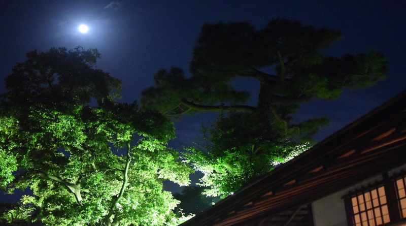 Autumn moon-viewing at Shukkei-en Garden