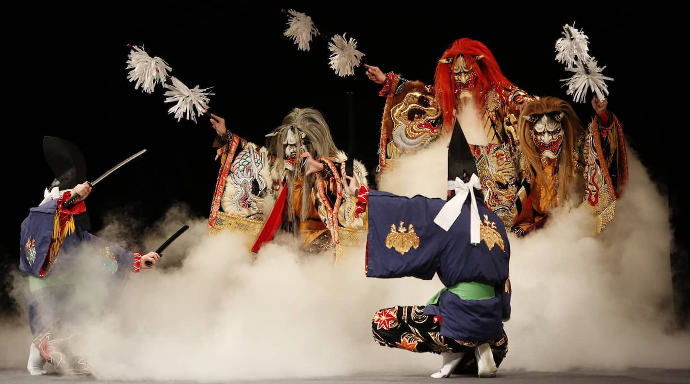 Momijigari performed by the Uegochi Kagura Troupe